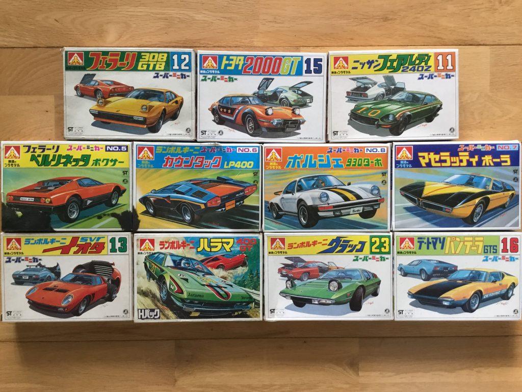アオシマ スーパーミニカーシリーズ パッケージ ちょっと劇画調