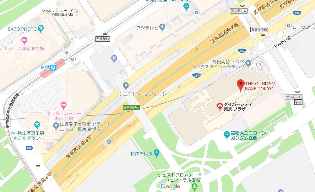 ガンダムベース東京_マップ
