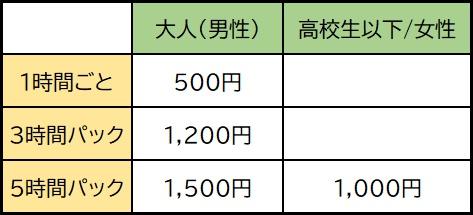 ヒコテック サーキット利用料金表